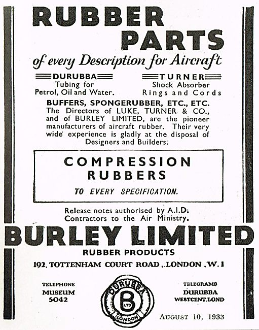 Burley Rubber Parts For All Aircraft