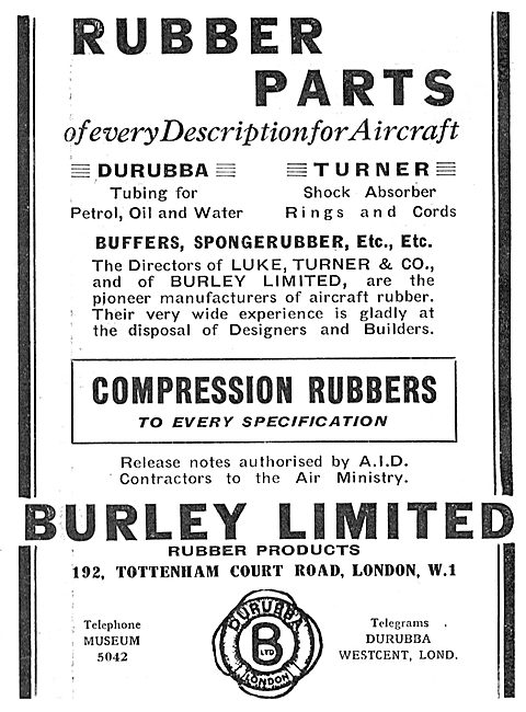 Burley Rubber Parts For Aircraft - DURUBBA