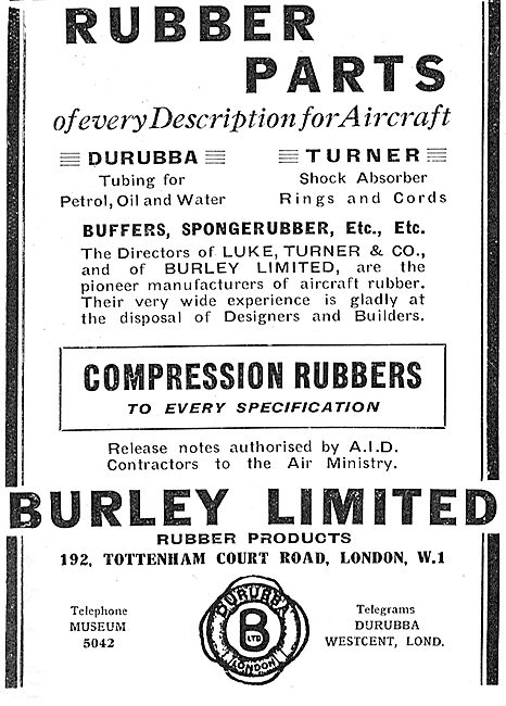 Burley Rubber Parts For Aircraft - Durubba Tubing