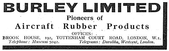 Burley Rubber Products For Aircraft 1939