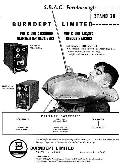Burndept VHF & UHF Air / Sea Rescue Beacons