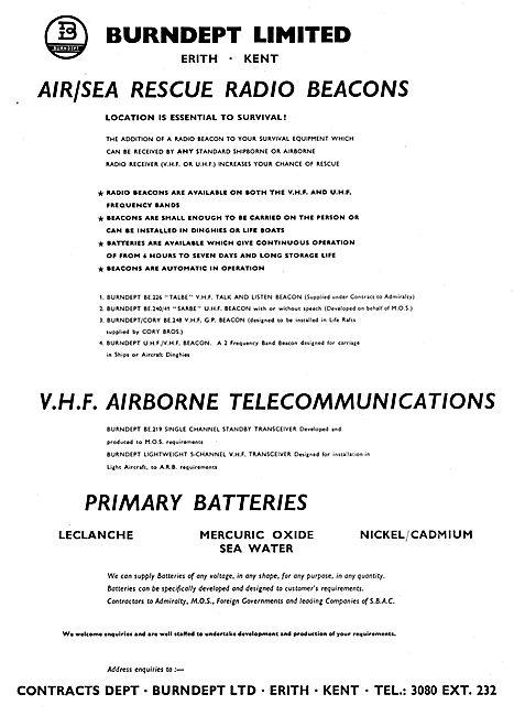 Burndept Air / Sea Rescue Beacons. TALBE CORY SARBE
