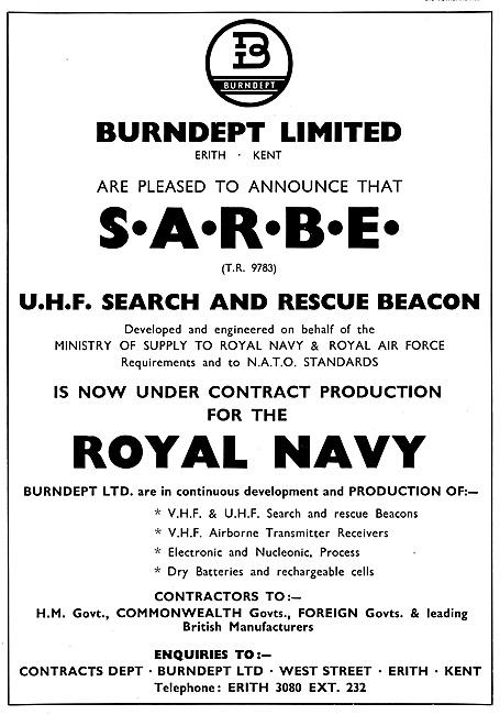Burndept S.A.R.B.E. UHF Search & Rescue Beacon 1959