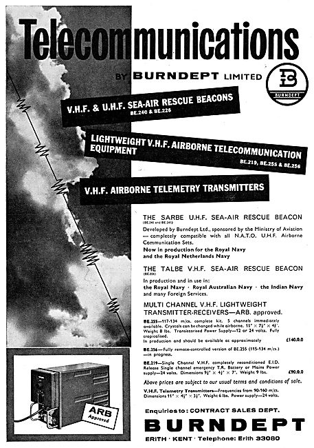 Burndept Air-Sea Rescue Beacons. Burndept Telemetry Transmitters