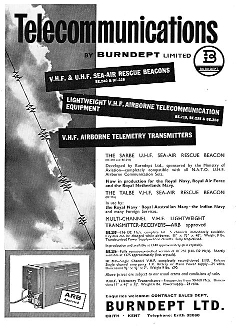 Burndept VHF & UHF Sea-Air Rescue Beacons BE240 BE226