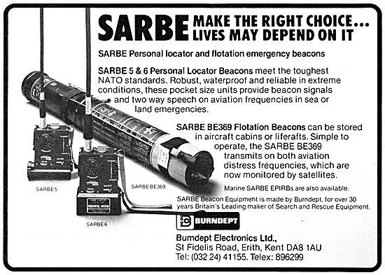 Burndept SARBE 5 Personal Locator Beacon. PLB 1983