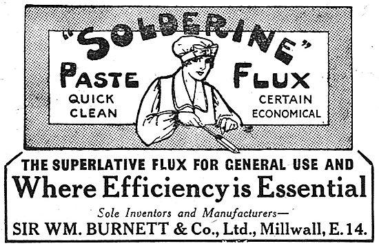 Wm Burnett - Solderine Paste Flux