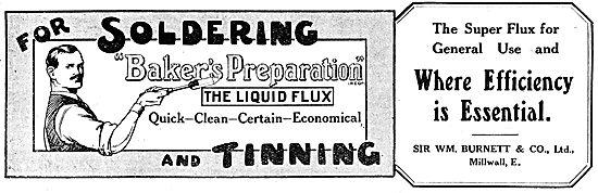 Sir William Burnett - Baker's Preparation Liquid Soldering Flux