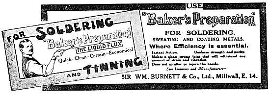 Wm Burnett - Bakers Preparation Liquid Soldering Flux