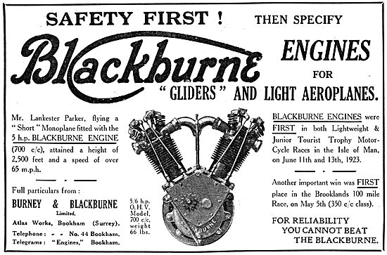 Burney & Blackburne 5 hp Aircraft Engine
