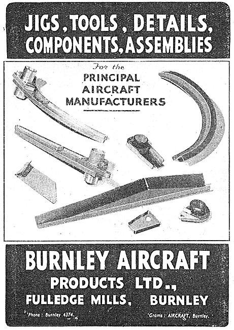 Burnley Aircraft Products. Jigs, Tools & Assemblies