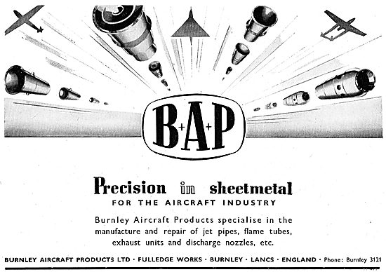 Burnley Aircraft Products : BAP Precision Sheet Metal Workers