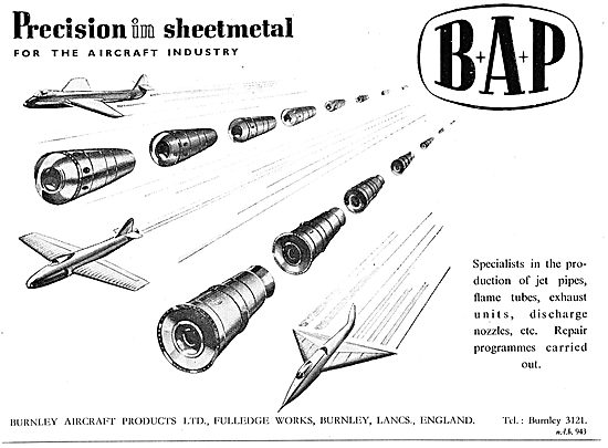 Burnley Aircraft Products - BAP Precision Sheet Metal Workers