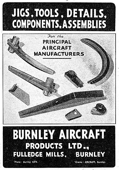Burnley Aircraft Products. Jigs,Tools & Assemblies. 1942