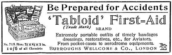 Burroughs Wellcome Tabloid First Aid Pack For Aviators