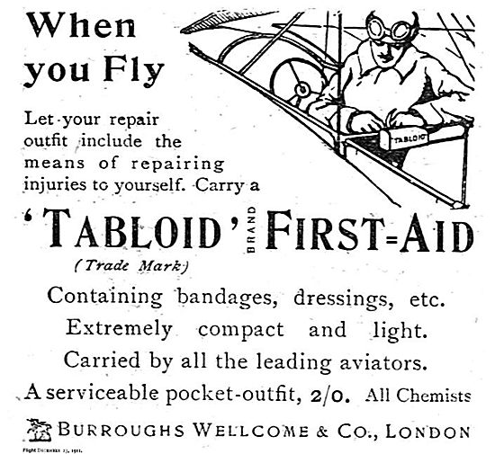 Burroughs Wellcome Tabloid First Aid Kit For Aviators