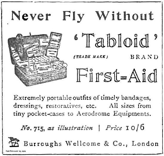 Burroughs & Wellcome Tabloid First Aid Kit