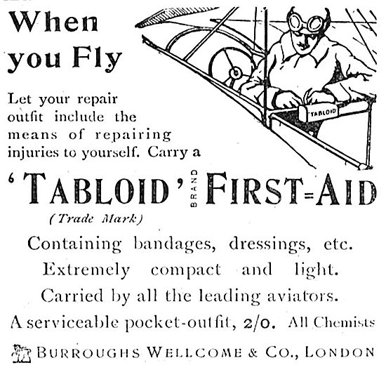 The Burroughs Wellcome Tabloid First Aid Outfit For When You Fly