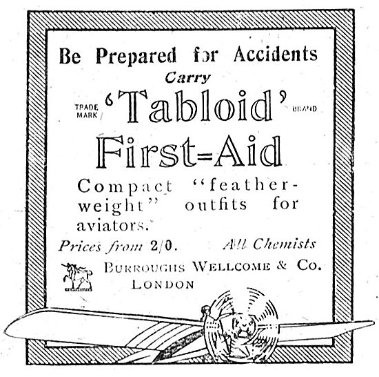 Be Prepared With The Burroughs Wellcome Tabloid First Aid Outfit