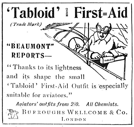 Beaumont Endorses The Burroughs Wellcome Tabloid First Aid Outfit
