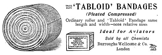 Burroughs Wellcome Tabloid Aviators Bandages