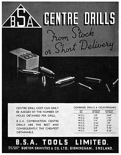 Burton Griffiths B.S.A. Machine Tools.
