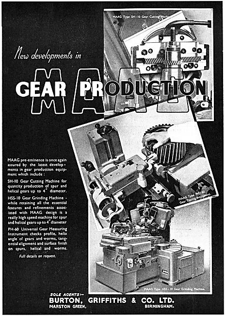 Burton Griffiths SH-10 Gear Cutting Machine