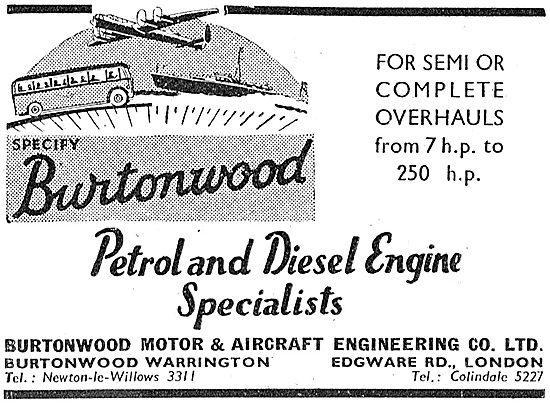 Burtonwood Motor & Aircraft Engineering Company - Warrington