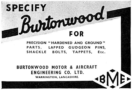 Burtonwood Motor & Aircraft Engineering.
