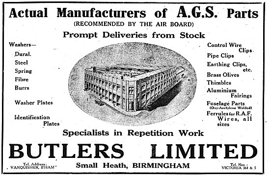 Butlers Ltd. - AGS Parts Manufacturers