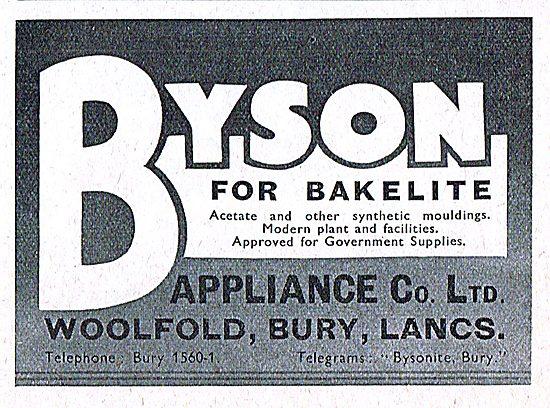 Byson Appliance Co. Bury. Bakelite & Synthetic Mouldings