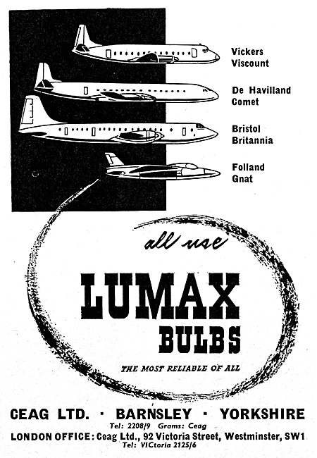 CEAG LUMAX Bulbs For Aircraft