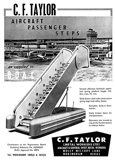 C.F.Taylor Aircraft Passenger Steps 1960