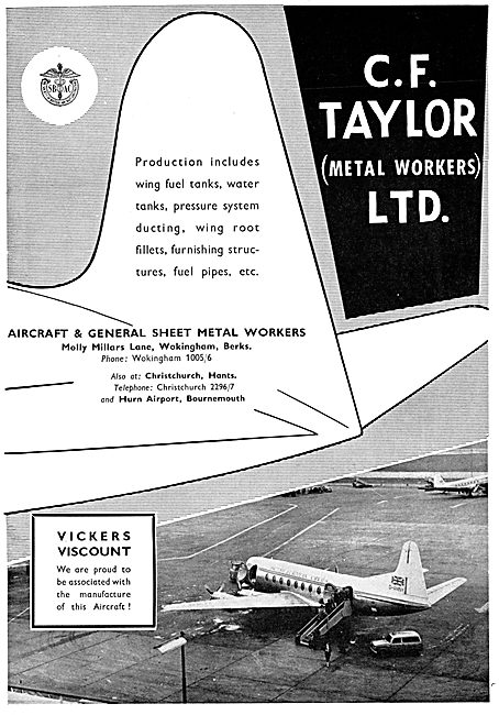 C.F.Taylor Aircraft & General Sheet Metal Workers