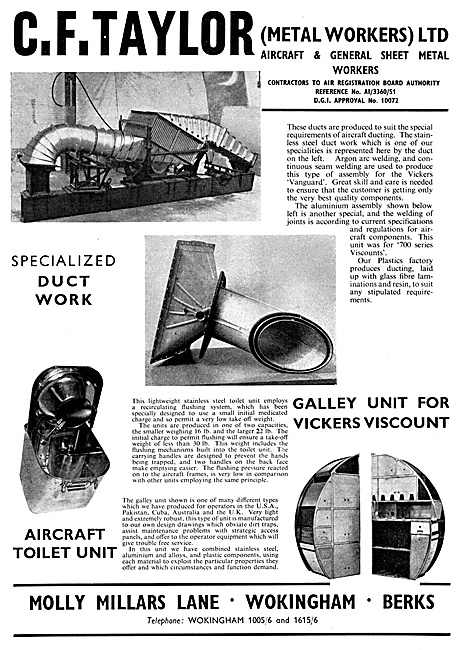 C.F.Taylor Aircraft Sheet Metal Workers