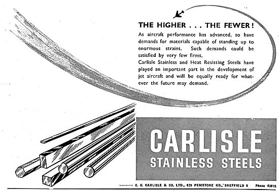Carlisle Stainless Steels. Heat Resisting Steels For Jet Aircraft