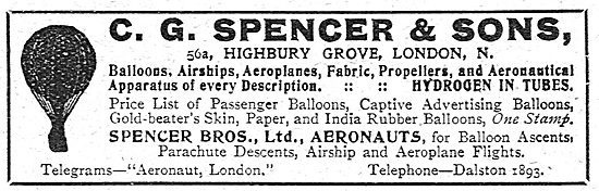 C.G.Spencer - Balloons, Airships Aeroplanes & Propellers