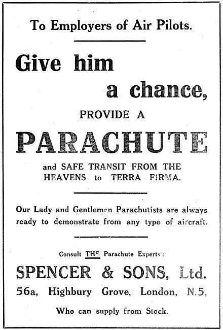 C.G.Spencer  Balloons, Airships & Parachutes