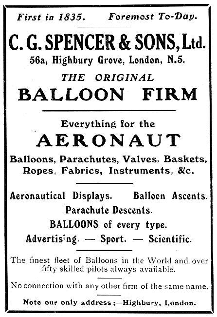 C.G.Spencer - Balloons & Aeronaut Supplies