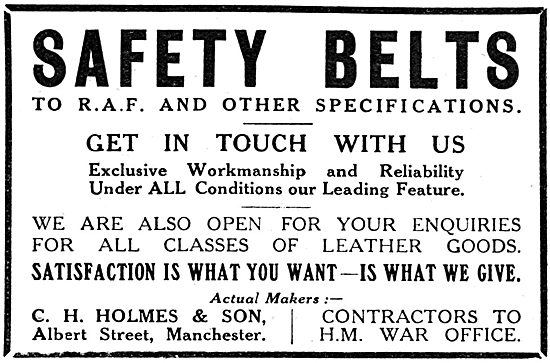 C.H.Holmes & Son - Aircraft Safety Belts
