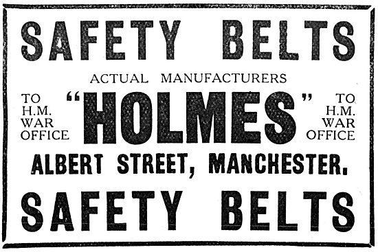 Holmes Leather  - WW1 Aeroplane Safety Belt Manufacturers 1917