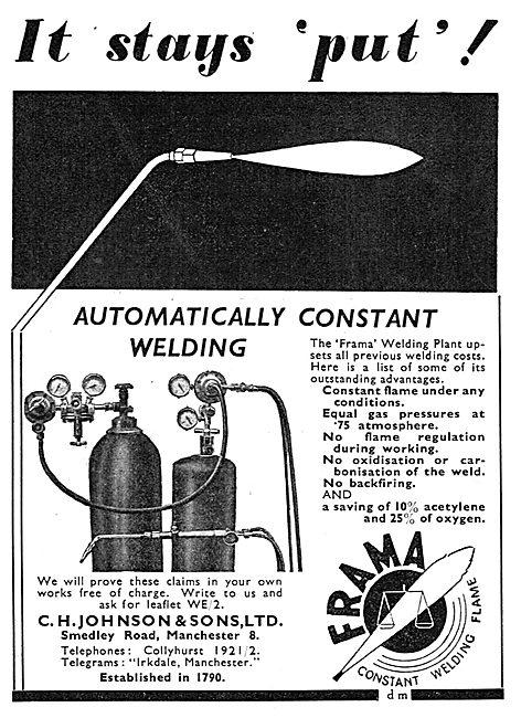C.H.Johnson & Sons - FRAMA Welding Plant
