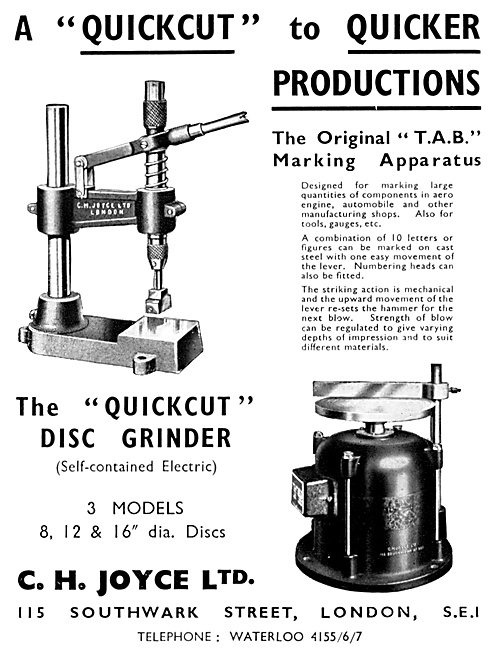 C.H.Joyce Engineering Machinery & Machine Tools