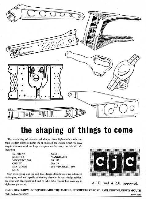 CJC Developments. Machinists Of High Tensile Steels & Alloys