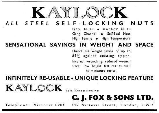 C.J.Fox Kaylock Self Locking Nuts