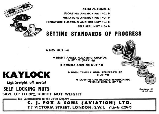 C.J.Fox Kaylock Fasteners & AGS Parts