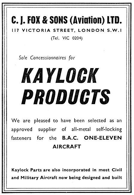 C.J.Fox KAYLOCK Self Locking Fasteners