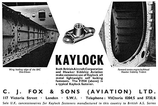 C.J.Fox  KAYLOCK F1394 Fasteners