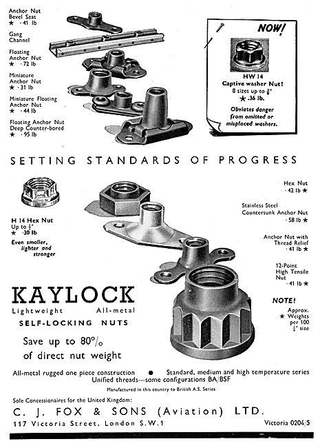 C.J.Fox  Kaylock Fasteners