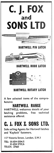 C.J.Fox Fasteners - Hartwell Latches